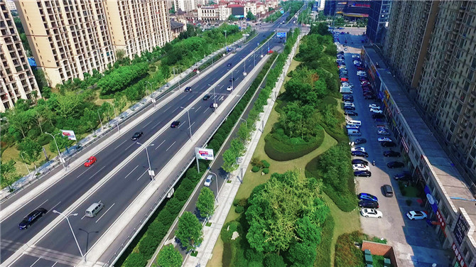 盛泽竞搏JBO舜湖西路绿化景观工程